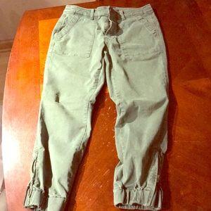 JCREW CROPPED JOGGER PANTS